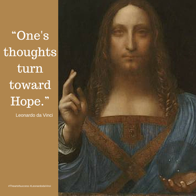 """One's thoughts turn toward Hope."